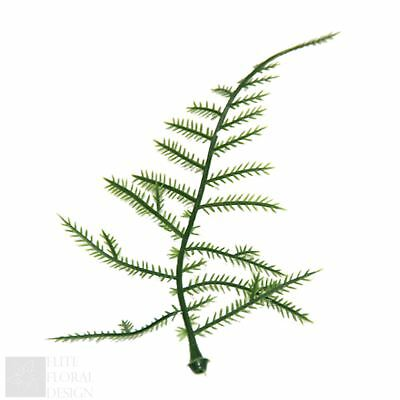 Artificial Mini Fern Leaves Foliage Button Hole Corsage Plant Vine Green