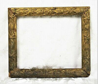 Antique Wood Picture Frame Gold Gilt Gesso Baroque Rococo Style Fits 9.75x8.25