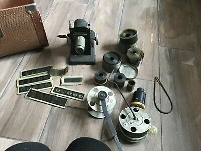 Vintage Bing Film Projector With Films