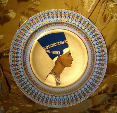 """Kaiser Queen Nefertiti Wall Charger Plate Limited Edition 12 1/2"""" West Germany"""