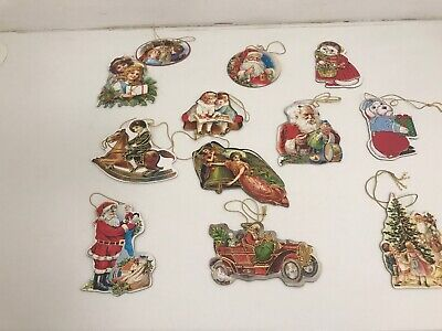 Vintage Cardboard Christmas Tree Decorations/ Readers Digest/