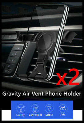 Universal Gravity Car Holder Mount Air Vent Stand Cradle For Mobile Cell Phone