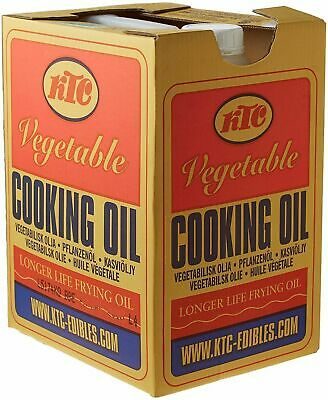 KTC Vegetable Cooking Oil 20L - Caterers Pack 20 litres (cardboard outer)