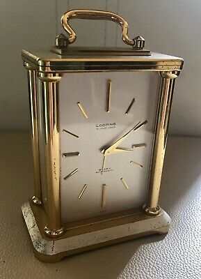 Vintage Looping 15 Jewel Lever 8 Day Anti-Magnetic Carriage Clock