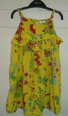Next Girls Pretty Yellow Floral Dress - 6 Years
