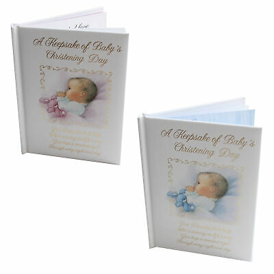 Christening - Keepsake Gift - Baby Record Book - 14cmx10cm - Choose Design