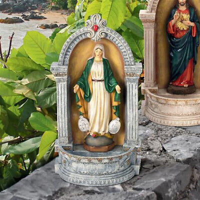 Italian-Style Virgin Mary of the Miraculous Medal Font Statues