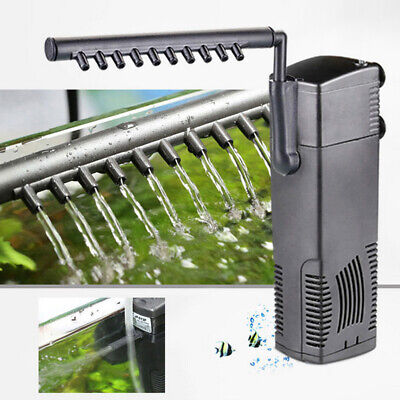CN_ 600/800LPH Vertical Internal Aquarium Filtration Pump Spray Fish Tank Filt