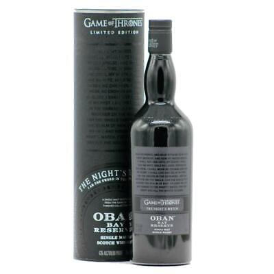 *** Oban Bay Reserve - The Night's Watch  (Game of Thrones) Whisky ***