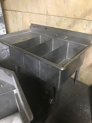 Aero Mfg 3 Compartment Sink For Butcher Shop