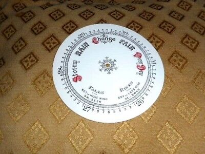 Round Paper Aneroid Barometer Dial - 127mm Diameter - WHITE GLOSS-Parts/Spares