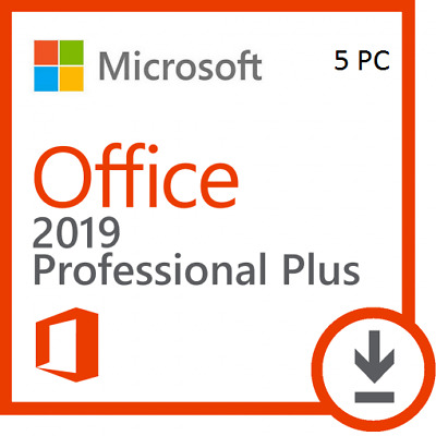 Microsoft Office Pro Professional PLUS 2019 32 & 64 BIT For 5 PC + Download Link
