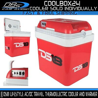 DS18 24L Outdoor Cooler Warmer Food Ice Chest Beverage Cold Box Camping Picnic