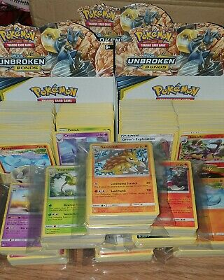 Pokemon cards Sun and Moon Unbroken Bonds card bundle pack joblot
