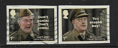 1) GB Stamps 2018 Dad's Army Set of Booklet Self Adhesives. Used.