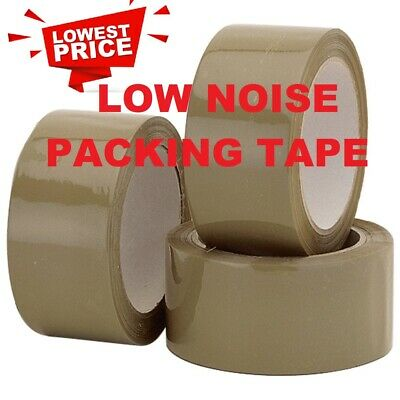 Brown Low Noise Parcel Packing Packaging Tape 48Mm X 66M Carton Sealing  Strong