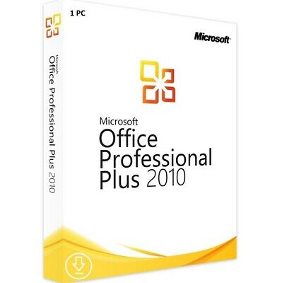 Microsoft MS Office 2010 Professional PRO Plus Key Software Lizenz Download Neu