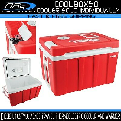 DS18 Cooler Warmer Food Ice Chest Beverage 50L Outdoor Cold Box Camping Picnic
