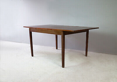 1970's Danish solid Afrormosia extending dining table