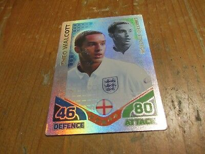 Match Attax Attack World Cup 2010 Theo Walcott Limited Edition Rare