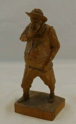 Vintage Ouro Wood Carved Old Man Made in Spain
