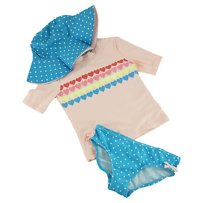 6b30f51c6d CARTER'S GIRL'S 3-PIECE Hearts Rash Guard Swim Set, size 7 - $10.99 ...
