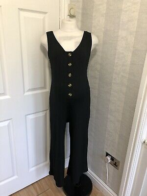 """(162) New Look Maternity Cropped Jumpsuit Size 10 22"""" Inside Leg"""