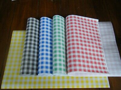 "50 Yellow *IMPERFECT* Gingham Duplex Food Wrap Paper 10"" x 15"" Chip Basket Liner"