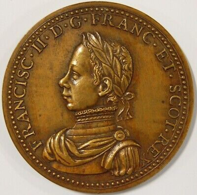 France-Francis Ii-Peace With England Bronze Medal