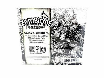 Zombicide Black Plague Promo Bruce Game Night #1 Figure ID and bases