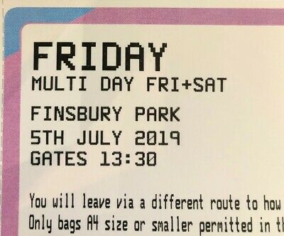 Wireless Festival Friday 2019 Ticket In Hand Sold Out 2 Available Open To Offers