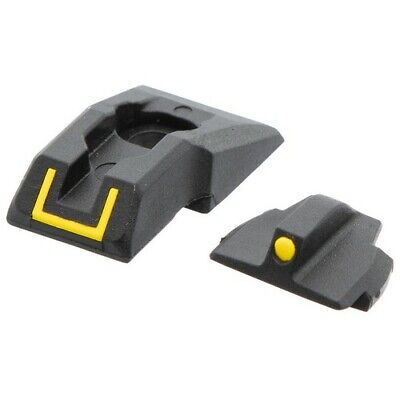 Ruger 90649 Black/Yellow Front/Rear Security-9 Tactical Hunting Pistol Sight