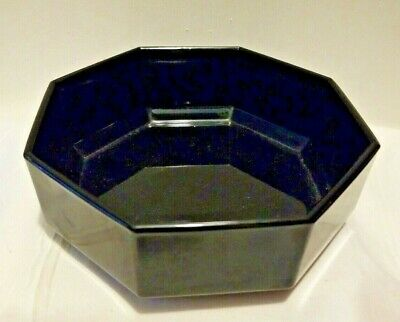 ARCOROC OCTIME Black Glass Cereal Bowl France Dish Luminarc