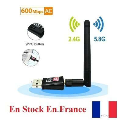 USB WiFi Adapter 150/600Mbps Wireless Dongle Dual Band 2.4GHz/5GHz antenna AC831