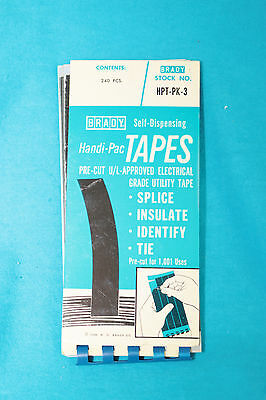 2 Vintage Brady Self-Dispensing Handi-Pac Tapes - Pre-Cut Electrical Tape - 1968