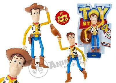 Disney Pixar Toy Story 4 WOODY MOVIE ACTION FIGURE ARTICULATED MATTEL TS 2019