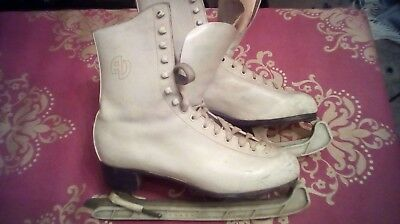 Patin A Glace T.42 Blanc - Cuir - Chaussures De Patinage - Ice