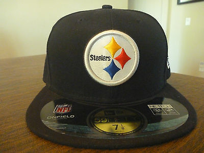 926f70502ae199 Pittsburgh Steelers New Era 59Fifty Nfl On-Field Black Fitted Hat Size 7 1/