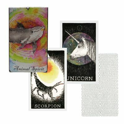 63pcs Tarot Cards Soul Spirit Deck Arrival Animal  English Divination Board Game