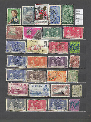 Stamps  Lot   British Colonies Used  (L35401)