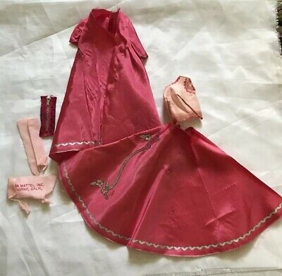 Vintage Barbie TLC Sew Free Moonlight and Roses #1721 Gown Coat and Gloves