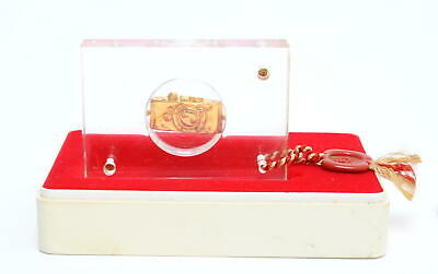 Ur-Leica miniature in 800 silver gold plated  in acryl glass boxed