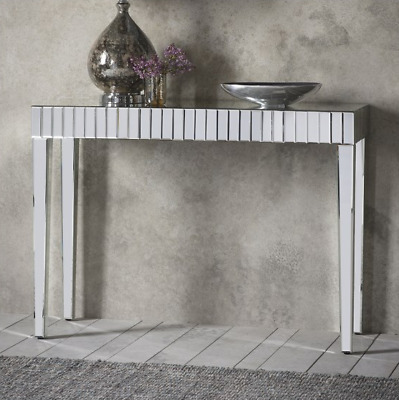 Glass Console Table Vintage Hallway Furniture Venetian Mirrored Large Dressing