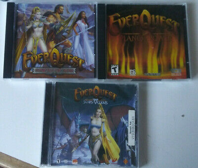 EVERQUEST 4 EXPANSIONS +3 MAPS LOT OMENS OF WAR PLANES POWER VELIOUS LUCLIN  rpg