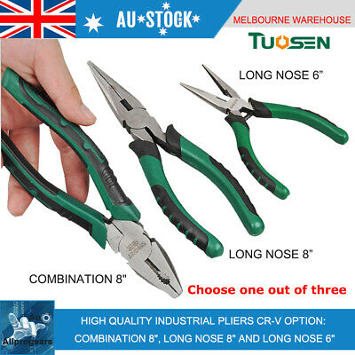 """High Quality Industrial Pliers Combination 8"""", Long Nose 8"""" and Long Nose 6"""""""