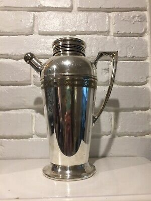Antique S P N S Universal Made In USA Silver Plate Cocktail Shaker
