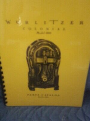 WURLITZER JUKEBOX PARTS Catalog for Models 41 and 71 Brand New ! 37