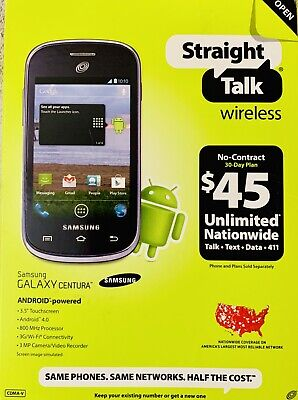 STRAIGHT TALK WIRELESS - $35 Unlimited Talk, Text, Data (2GB