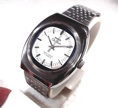 Hmt Chethan India Manual Wind Classic Silver Dial Mens Collectors Watch