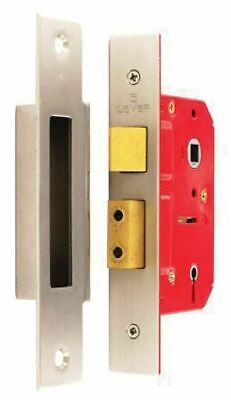 Securit 5 Lever Sash Lock Nickel Plated 63mm  Mortice Locks S1802